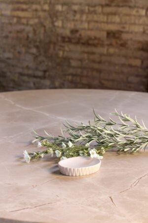 Jabonera de cerámica blanca 13 x 9 x 2,5 cm
