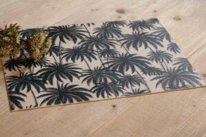 Vinilo impreso palmeras tono gris 33 x 0,24 x 45 cm