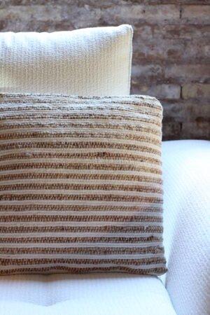 Cojín natural yute y algodón 45 x 45 cm