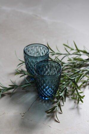 Vaso Agua Diamant Azul 8 x 8 x 14 cm