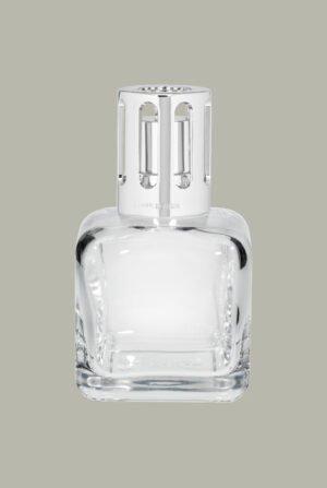 Lámpara cuadrada cristal transparente