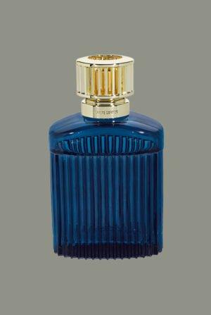 Lámpara cristal azul con relieve en lineas verticales x1 recarga Sous L`Oliveraie 4557
