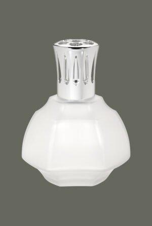 Lámpara geométrica cristal blanca 4661