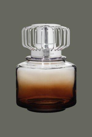 Lámpara cilíndrica de cristal marrón ahumado degradado 4732